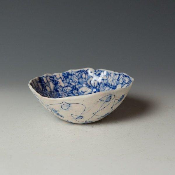 "KB Lim Keok Lim, Small Bowl, porcelain, 2 x 5.25"" dia"