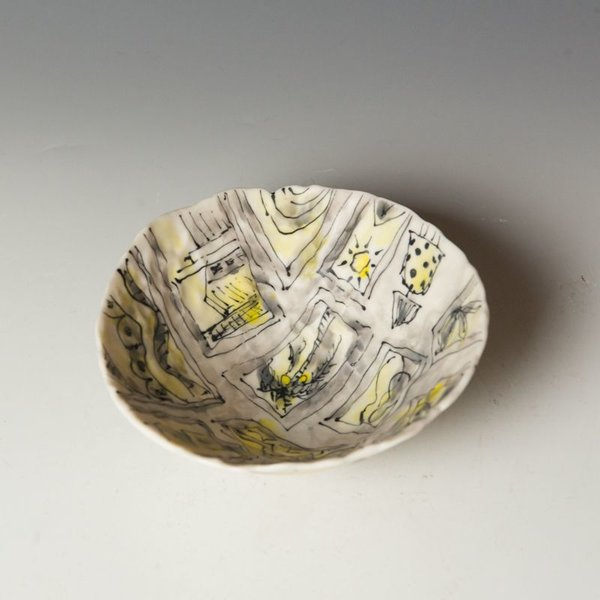 "Keok (KB) Lim Keok Lim, Small Bowl, porcelain, 2.5 x 6"" dia"