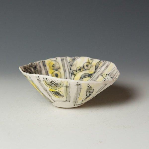 "KB Lim Keok Lim, Small Bowl, porcelain, 2.5 x 6"" dia"