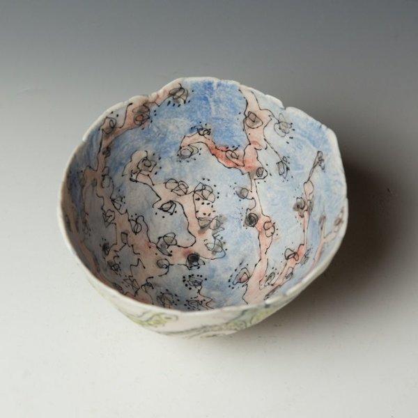 "KB Lim Keok Lim, Large Bowl, porcelain, 4 x 6.5"" dia"