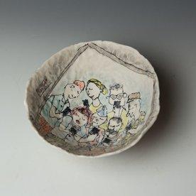"Keok Lim Keok Lim, Large Bowl, porcelain, 3.75 x 8"" dia"