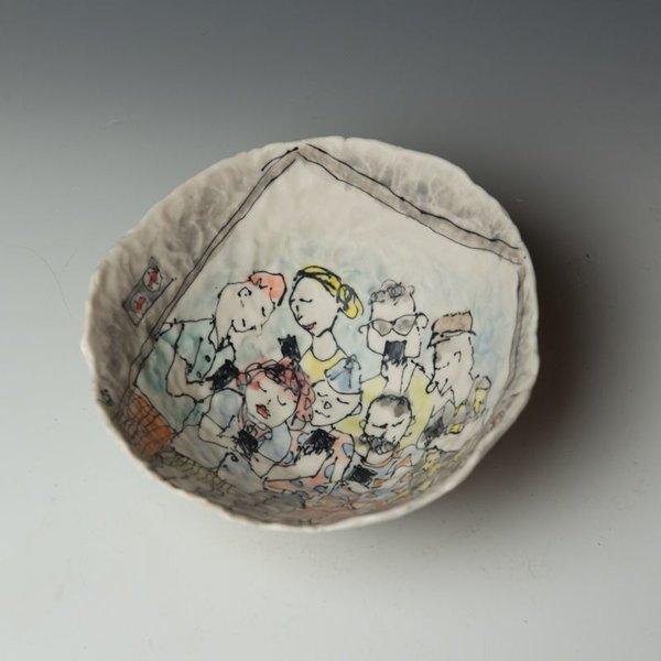 "KB Lim Keok Lim, Large Bowl, porcelain, 3.75 x 8"" dia"