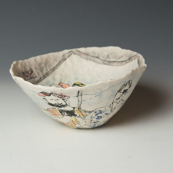 "Keok (KB) Lim Keok Lim, Large Bowl, porcelain, 3.75 x 8"" dia"