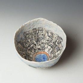 "Keok Lim Keok Lim, Large Bowl, porcelain, 5 x 7"" dia"