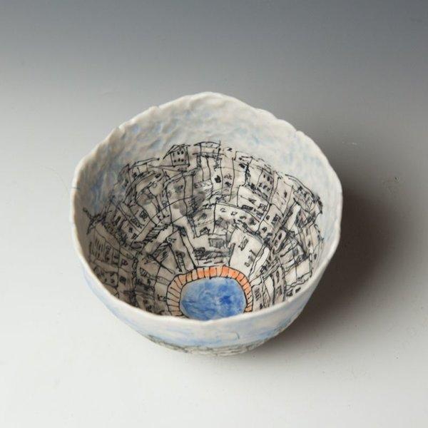 "Keok (KB) Lim Keok Lim, Large Bowl, porcelain, 5 x 7"" dia"