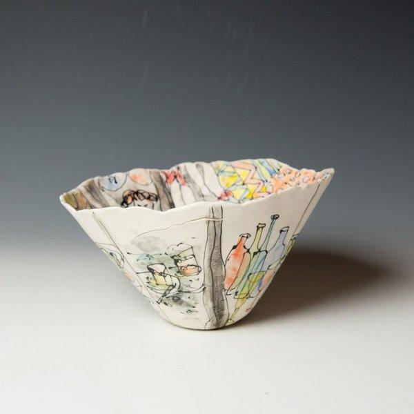 "KB Lim Keok Lim, Large Bowl, porcelain, 5.5 x 7"" dia"