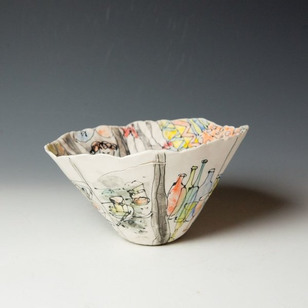 "Keok (KB) Lim Keok Lim, Large Bowl, porcelain, 5.5 x 7"" dia"