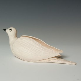 """Ann Housworth Ann Housworth, Dove, porcelain, glaze, , 4 x 10 x 4"""""""