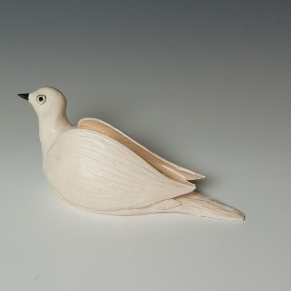 Ann Housworth Ann Housworth, Dove, porcelain, glaze, , 4 x 10 x 4""