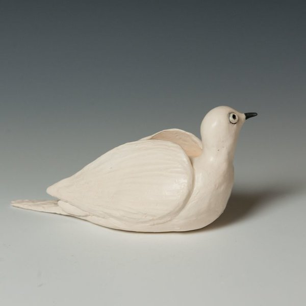 Ann Housworth Ann Housworth, Dove, porcelain, glaze, , 4.25 x 9 x 3.75""