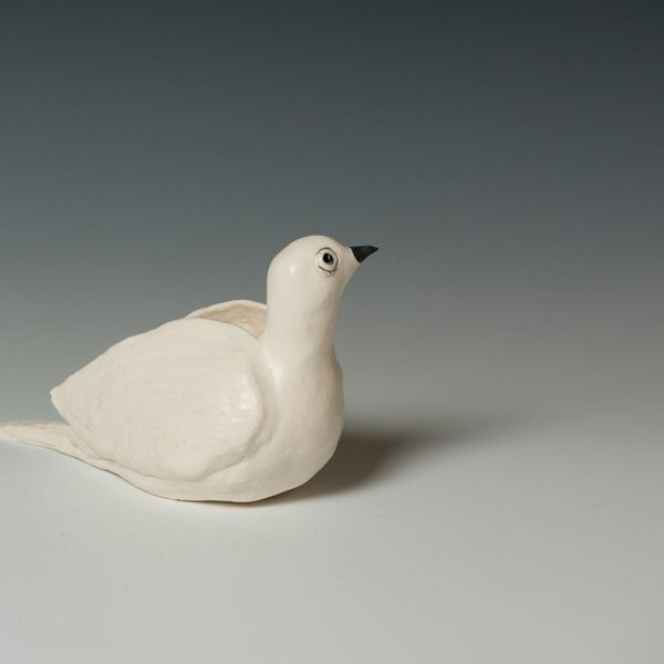 Ann Housworth Ann Housworth, Dove, porcelain, glaze, , 4.75 x 7.5 x 3.5""