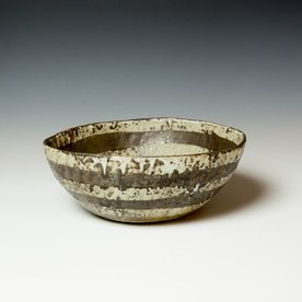 "Melissa Weiss Melissa Weiss, Cave Bowl, stoneware, 4.5 x 11.25"" dia."