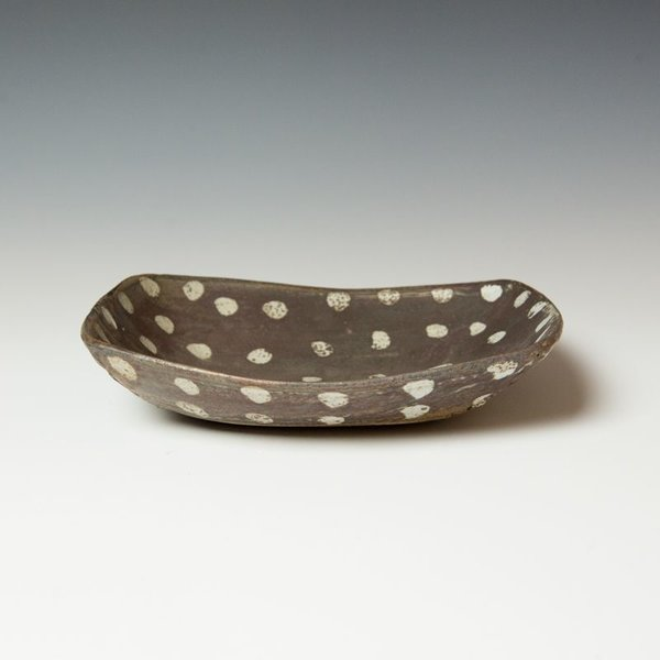 Melissa Weiss Melissa Weiss, Rectangle Server, stoneware, 2.5 x 10.75 x 9""
