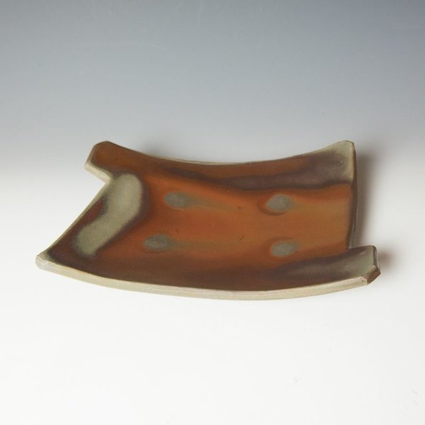 Warren Frederick Warren Frederick, Cutout Plate, wood-fired stoneware, 2 x 11.5 x 8