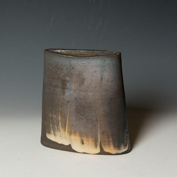 Nancy Green Nancy Green, Oval Vase, stoneware, black clay, slip