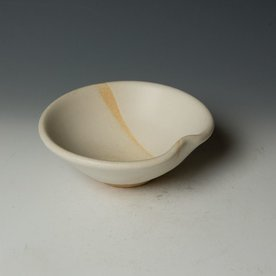 Nancy Green Nancy Green, Temple White Bowl, stoneware, wood-fired, 2.75 x 6.5 x 6.25""