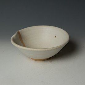 Nancy Green Nancy Green, Temple White Bowl, stoneware, wood-fired, 2.75 x 6.5 x 6.5""