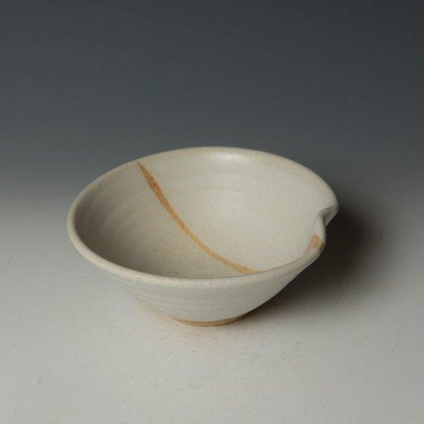 """Nancy Green Nancy Green, Temple White Bowl, stoneware, wood-fired, 2.75 x 6.5 x 6.5"""""""