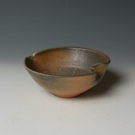 Nancy Green Nancy Green, Wood Fired Bowl with Spout, stoneware, wood-fired, 2.5 x 6.25 x 6""