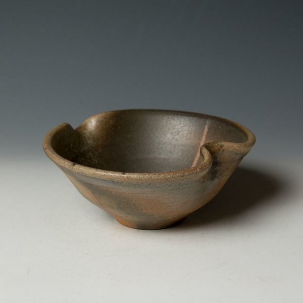 Nancy Green Nancy Green, Wood Fired Bowl with Spout, stoneware, wood-fired, 2.75 x 6.5 x 6.5""
