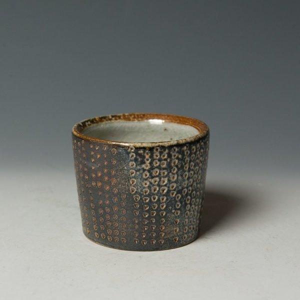 "Nancy Green Nancy Green, Sgraffito Cups, stoneware, wood-fired, 2.5 x 2.75"" dia."