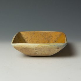 """Nancy Green Nancy Green, Square Bowl, stoneware, wood-fired,  2 x 6 x 5.75"""""""
