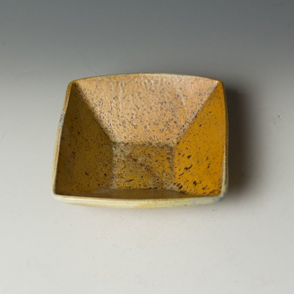 Nancy Green Nancy Green, Square Bowl, stoneware, wood-fired,  2 x 6 x 5.75""