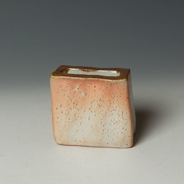 Nancy Green Nancy Green, Small Wedge Vase, stoneware, wood-fired,  3.25 x 3.5 x 1.5""