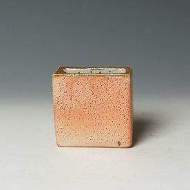 "Nancy Green Nancy Green, Small Wedge Vase, stoneware, wood-fired,  3.25 x 3.25 x 1.5"""
