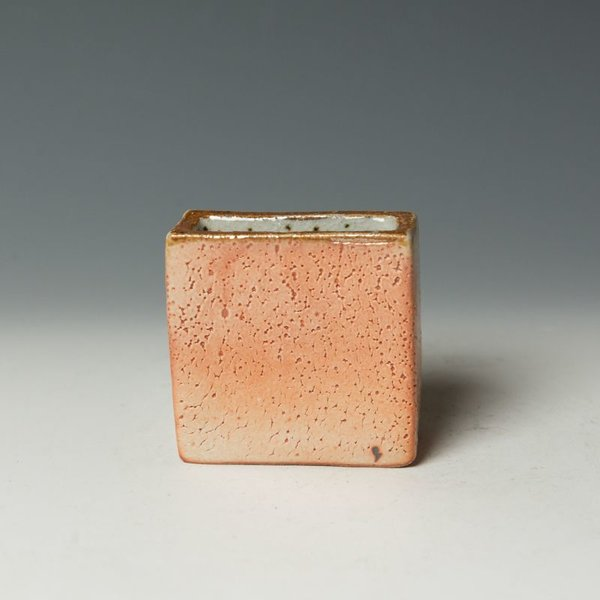 Nancy Green Nancy Green, Small Wedge Vase, stoneware, wood-fired,  3.25 x 3.25 x 1.5""