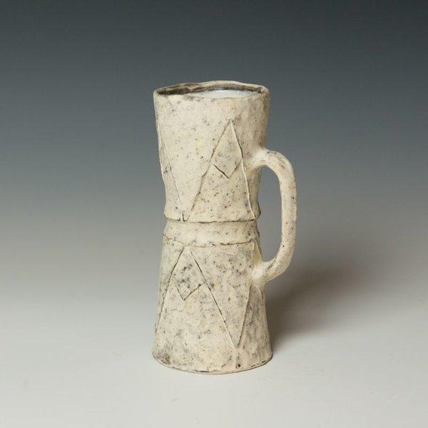 "Candice Methe, Tall Mug, black stoneware, slips, terra sigillata, 7.5 x 4 x 3.25"""