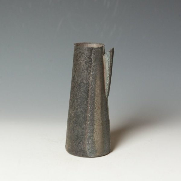 Lindsay Oesterritter, Pourer, wood-fired stoneware, 6.75 x 2.75 x 2.75""