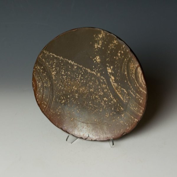 "Catherine White Catherine White, Drift Plate, wood-fired stoneware, 8.25"""