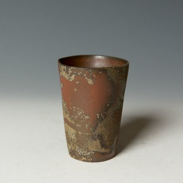 """Catherine White Catherine White, Poem Cup, wood-fired stoneware, 3.5 x 2.5"""""""