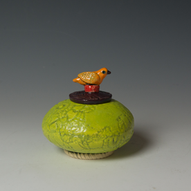 Barry Gregg Barry Gregg, Lidded Jar, handbuilt earthenware, glaze,