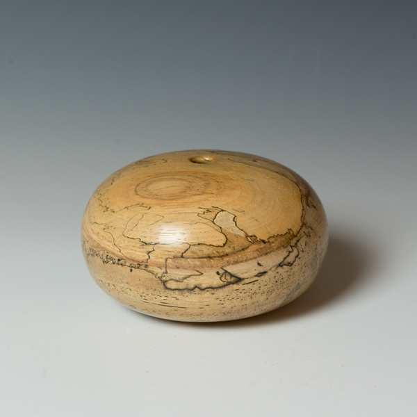 "Marc Granberry Marc Granberry, Spalted Pecan, 3.5 x 5.5"" dia"