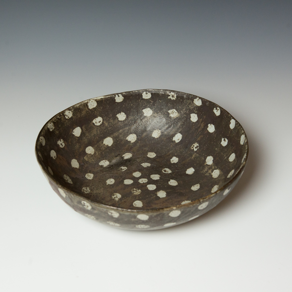 "Melissa Weiss Melissa Weiss, Philly Bowl, stoneware, 4 x 13.75"" dia."