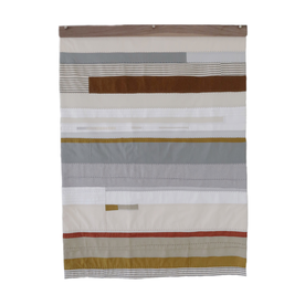 Sheri Schumacher Sheri Schumacher, Coastal Plain Series No. 1', hand-stitched repurposed linens, natural and persimmon dyed thread, 3x4'