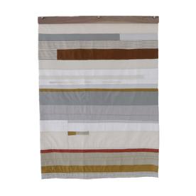 Sheri Schumacher Sheri Schumacher, Coastal Plain Series No. 1, hand-stitched repurposed linens, natural and persimmon dyed thread, 3x4'