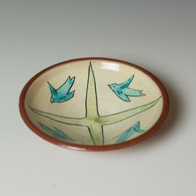 "Maria Dondero Maria Dondero, Small Bowl, earthenware, 1.5 x 6.75"" dia."