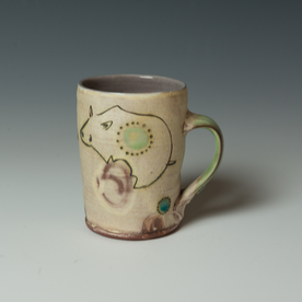 "Maria Dondero Maria Dondero, Mug, earthenware, 5 x 4.75 x 3.5"""