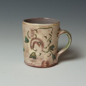"Maria Dondero Maria Dondero, Mug, earthenware, 4 x 4.25 x 3.5"""