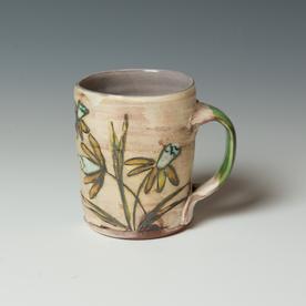"Maria Dondero Maria Dondero, Mug, earthenware, 4 x 4.5 x 3.25"""
