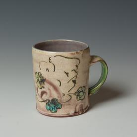 "Maria Dondero Maria Dondero, Mug, earthenware, 4 x 4.5 x 3.5"""
