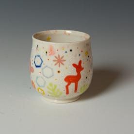 """Masa Sasaki Masa Sasaki, Wine Cup, porcelain, glaze, 4 x 3.5"""""""