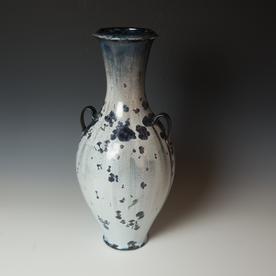 "Arlen Hansen, Vase, crystalline glaze, 20.75 x 9.5"" dia."