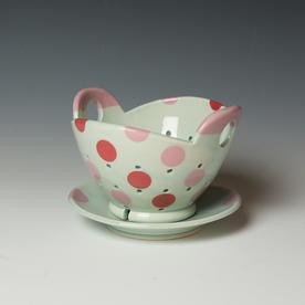 "Berry Bowl Kristen Kieffer, Berry Bowl Set, porcelain, 4.25 x 7 x 6.75"""