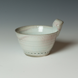 Kenyon Hansen Kenyon Hansen, Berry Bowl, soda-fired stoneware, 4.5 x 6.25 x 5.25""