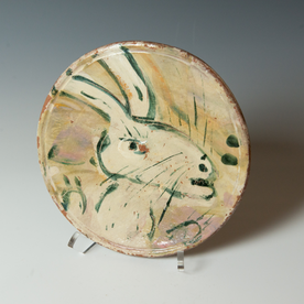 Ron Meyers Ron Meyers, Small Plate with Rabbit, 1 x 8""