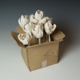 "Keok (KB) Lim Keok (KB) Lim, Tulip Boxes, porcelain, 5.5 x 7"" dia"